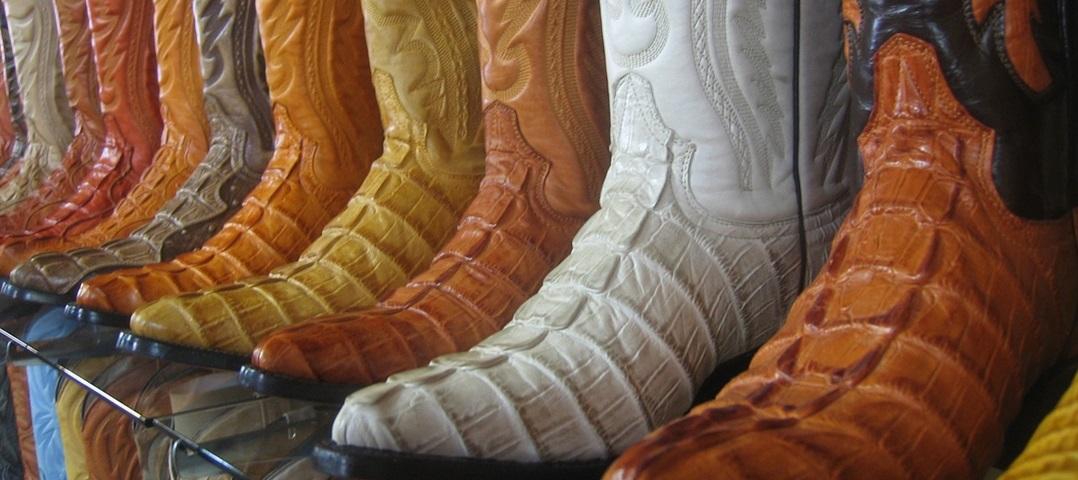 tipos de botas de couro