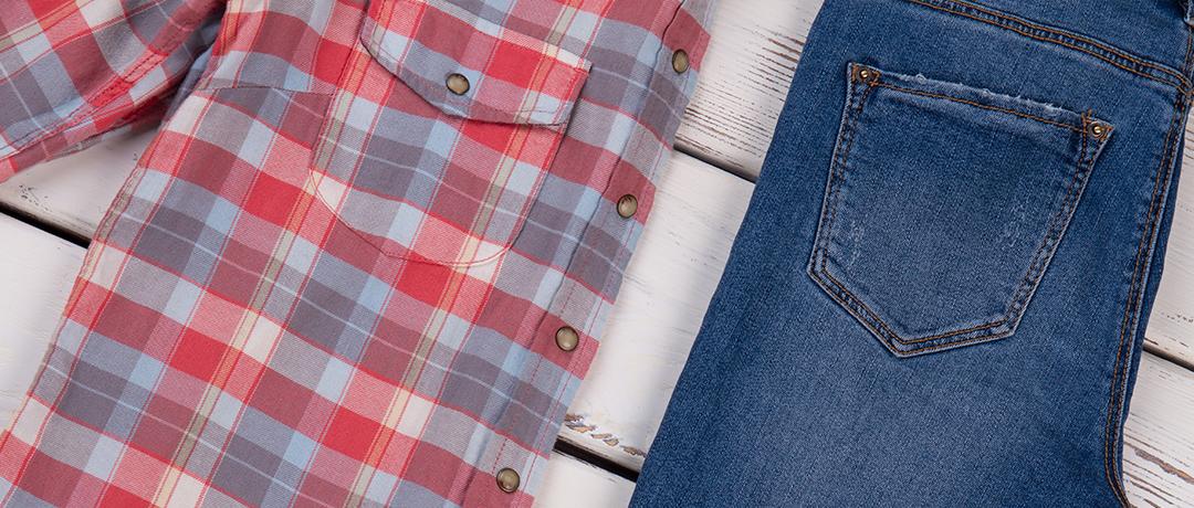 Camisa Xadrez e Calça Jeans